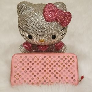 Christian Louboutin Pink Studded Wallet